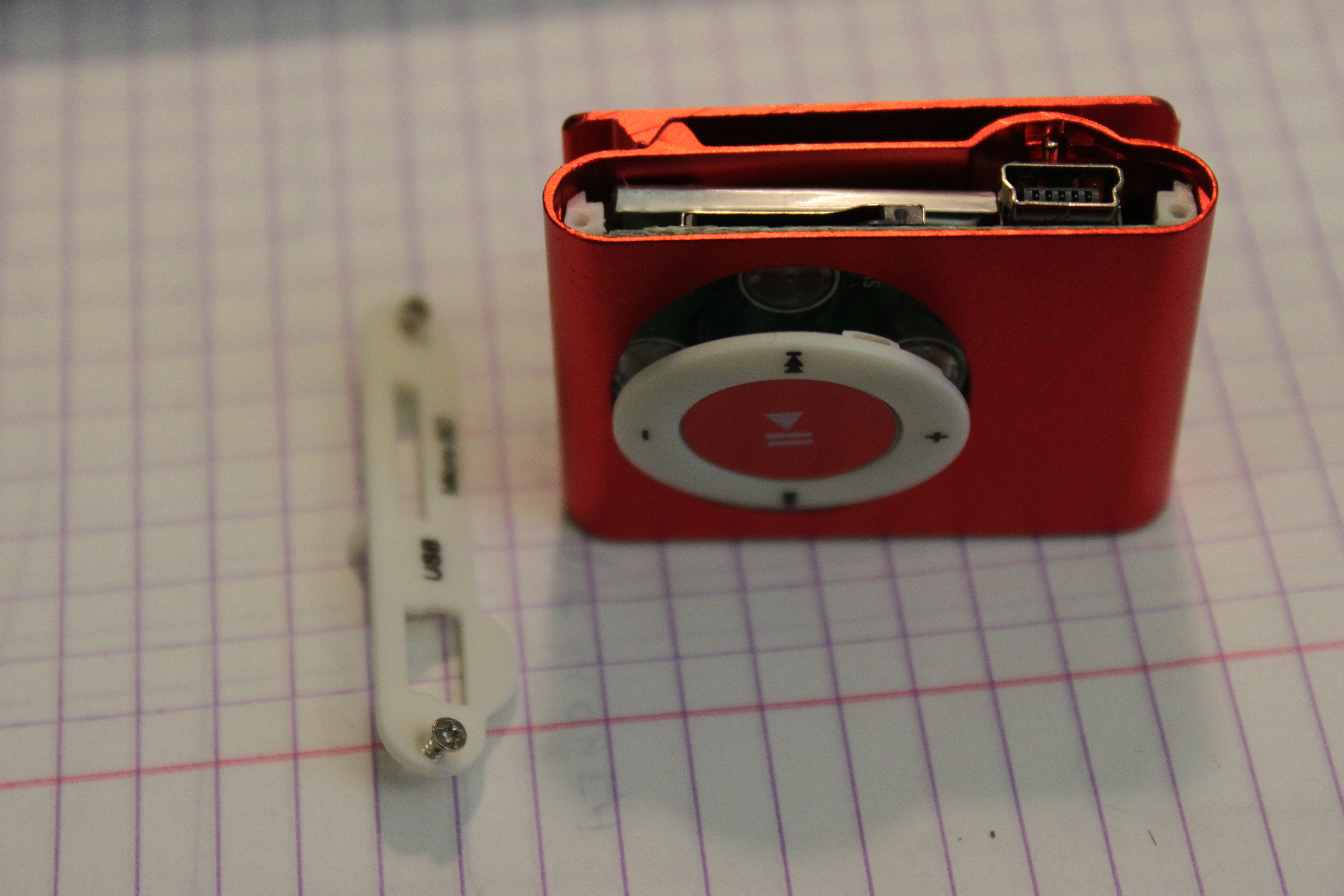 From the bottom side are power switch and audio jack 3.5.