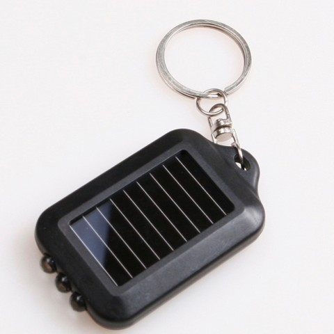 New-Mini-Solar-Power-3-LED-Lamp-Flashlight-Torch-with-Key-Chain-Free-shipping-ZH291-